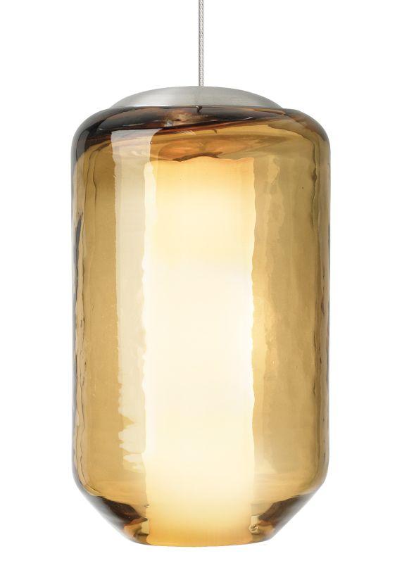 LBL Lighting Mini Mason Amber 50W Monorail 1 Light Pendant Satin