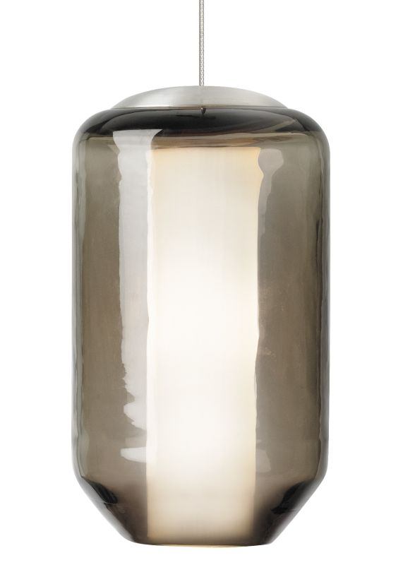 LBL Lighting Mini Mason Brown 50W Monopoint 1 Light Pendant Satin