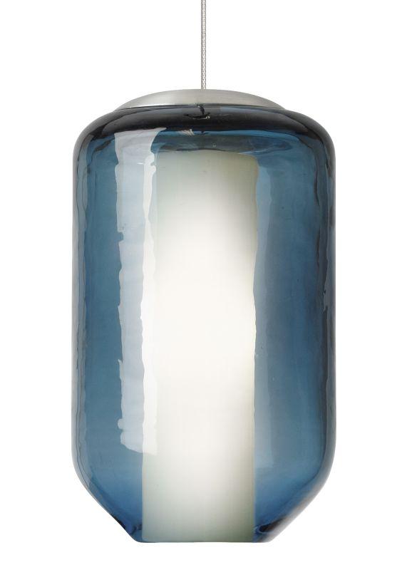 LBL Lighting Mini Mason Steel Blue 50W Monorail 1 Light Pendant Satin