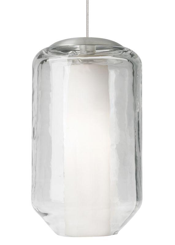 LBL Lighting Mini Mason Clear 50W Monopoint 1 Light Pendant Satin