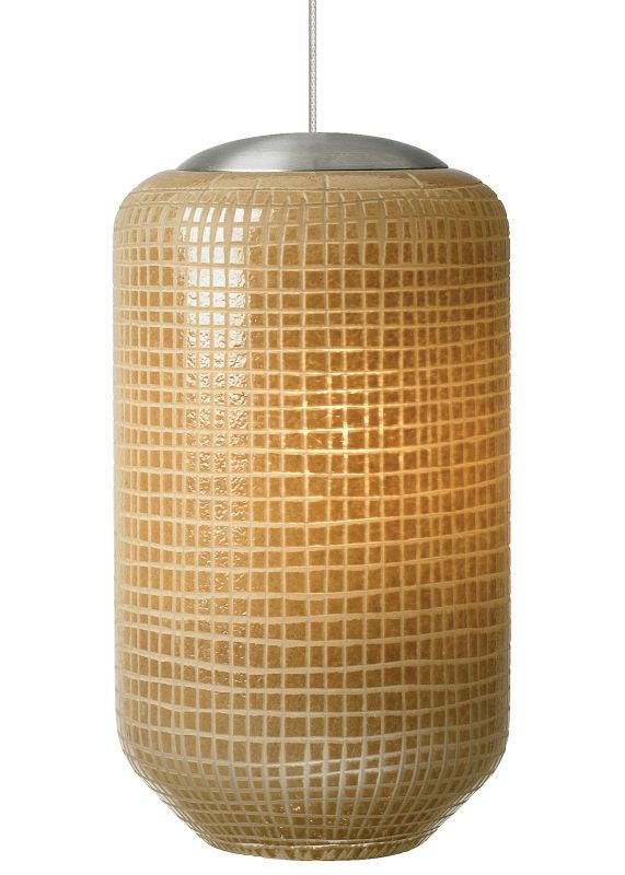 LBL Lighting Mini Aiko LED Ivory 6W Monopoint 1 Light Pendant Bronze