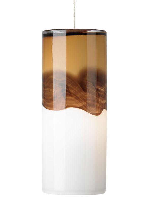 LBL Lighting Rio Amber / Dark Brown 50W Monopoint 1 Light Mini Pendant