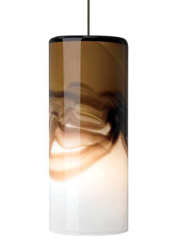 LBL Lighting Rio Brown / Gray 50W Monopoint 1 Light Mini Pendant Satin