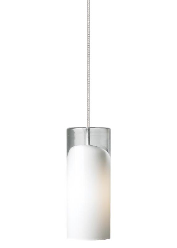 LBL Lighting Horizon LED Opal 6W Monopoint 1 Light Mini Pendant Satin
