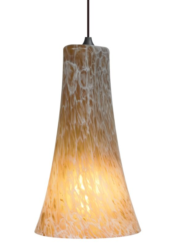 LBL Lighting Mini-Indulgent Amber LED Monopoint 1 Light Track Pendant