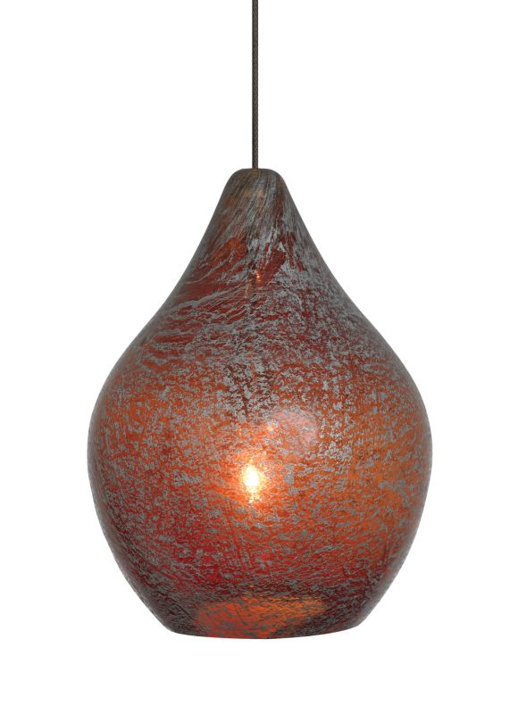 LBL Lighting Relic No. 1 Orange Monorail 1 Light Track Pendant Satin