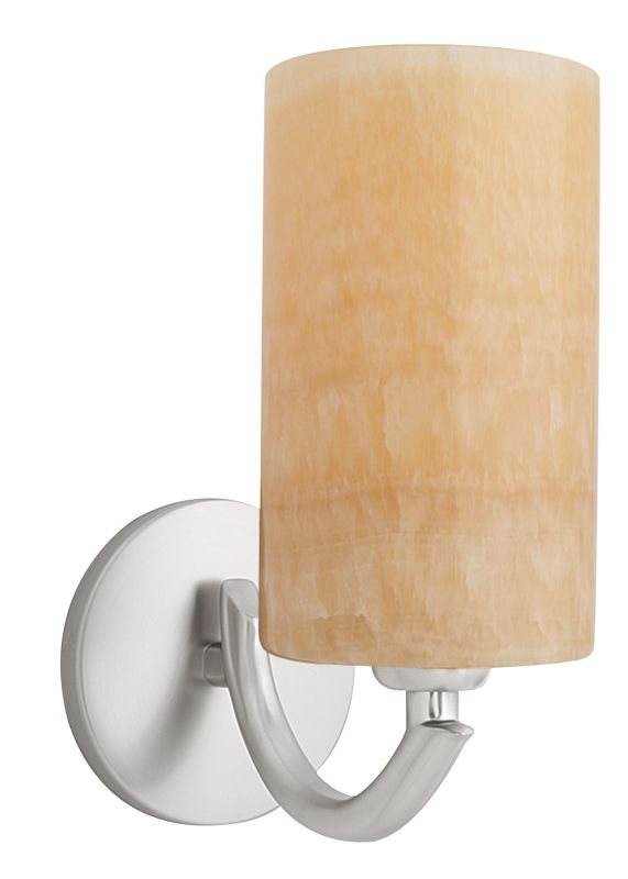 LBL Lighting Onyx Wall Cylinder 1 Light Wall Sconce Satin Nickel