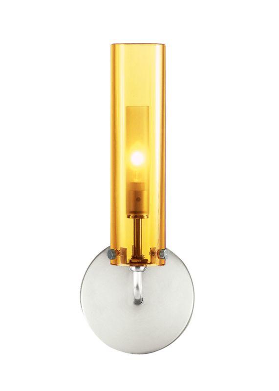 LBL Lighting Top Wall II Amber 35W 1 Light Wall Sconce Satin Nickel