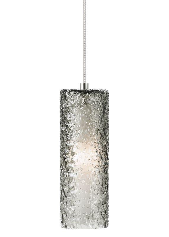 LBL Lighting Mini-Rock Candy Cylinder Wall Smoke 1 Light Wall Sconce