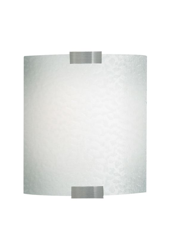 LBL Lighting Omni Opal 60W Wall 1 Light Wall Sconce Silver Indoor