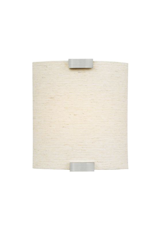 LBL Lighting Omni Linen 60W Wall 1 Light Wall Sconce Silver Indoor