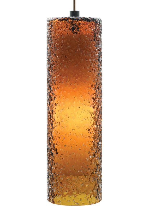 LBL Lighting Rock Candy Dark Amber 60W Pendant 1 Light Foyer Pendant