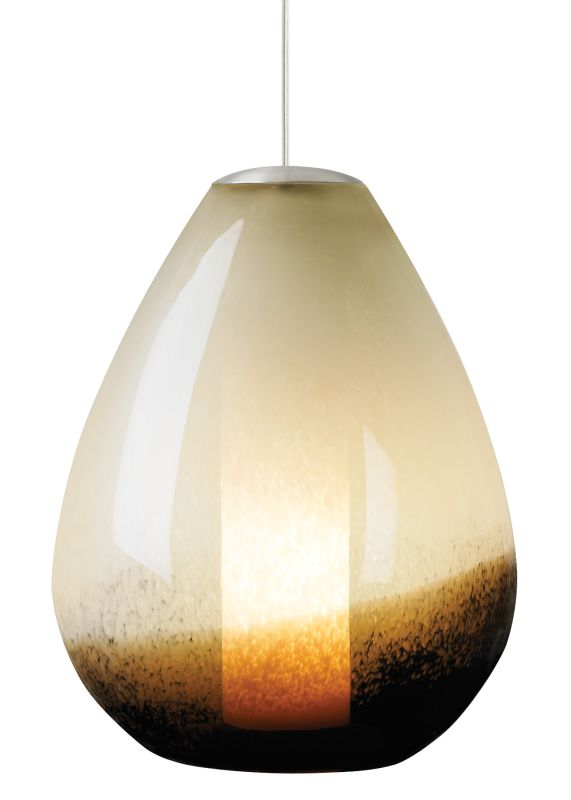 LBL Lighting Mini Sora Ivory / Brown 75W Pendant 1 Light Mini Pendant