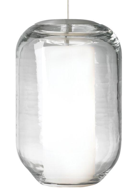 LBL Lighting Mini Mason Clear 60W Pendant 1 Light Mini Pendant Satin