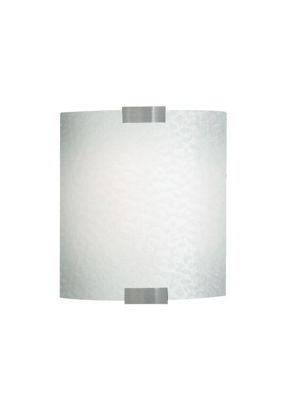 LBL Lighting Omni Cover Small Opal LED 277V 1 Light Wall Sconce Silver