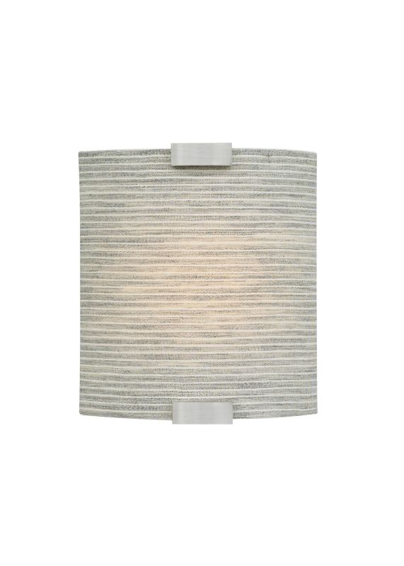 LBL Lighting Omni LED Pewter 10W Wall 1 Light Wall Sconce Silver