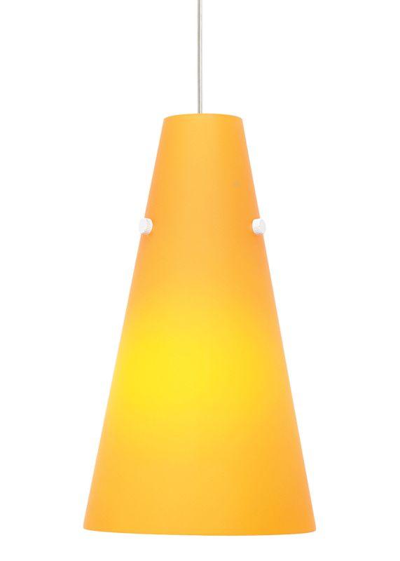 LBL Lighting Kona II Apricot 18W 1 Light Down Light Pendant Satin