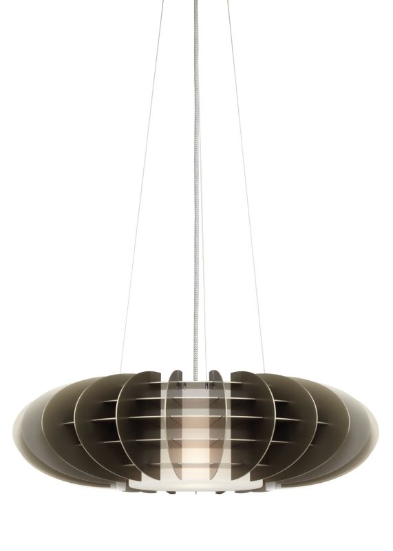 LBL Lighting Chicago Jazz 32W 1 Light Foyer Pendant Satin Nickel