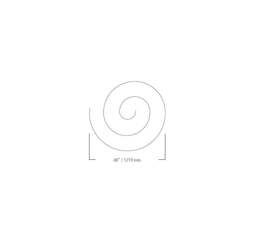 LBL Lighting Monorail Spiral 48 Inch Kit Track Accessory Satin Nickel
