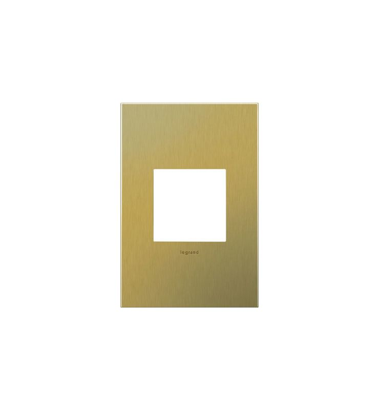 Legrand AWC1G2BB4 adorne 1 Gang Metal Wall Plate - 3.45 Inches Wide