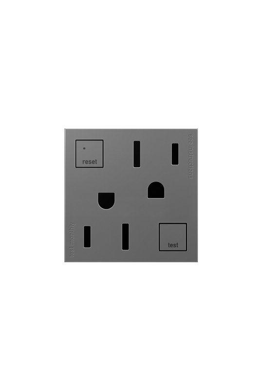 Legrand AGFTR152M4 adorne Double 15 Amp Tamper Resistant GFCI Outlet