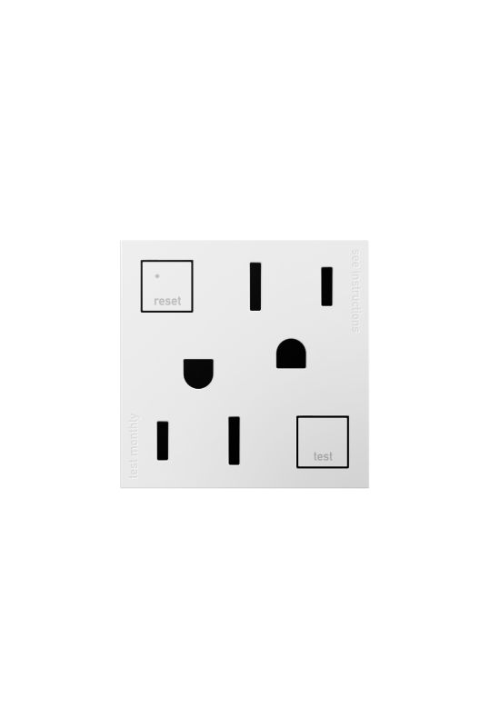 Legrand AGFTR152W4 adorne Double 15 Amp Tamper Resistant GFCI Outlet