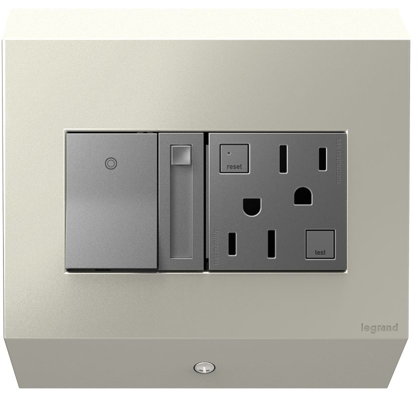 Legrand APCB2TM2 adorne Under Cabinet Control Box 2 Gang with Paddle