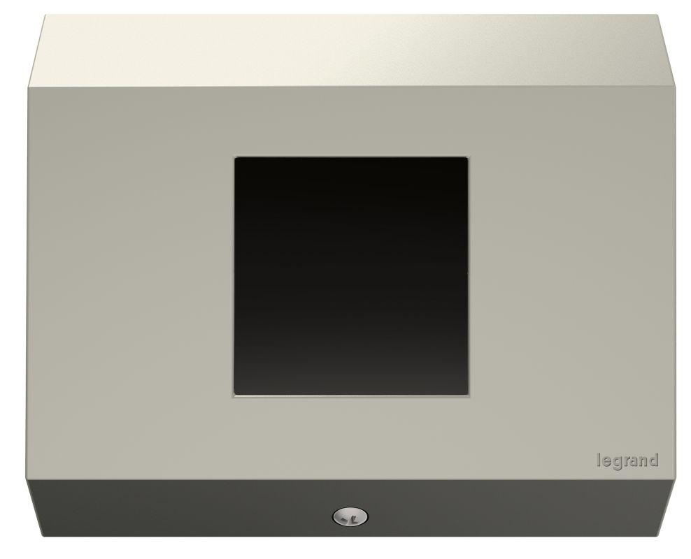 Legrand APCB4TM1 adorne Under Cabinet Control Box 1 Gang Titanium