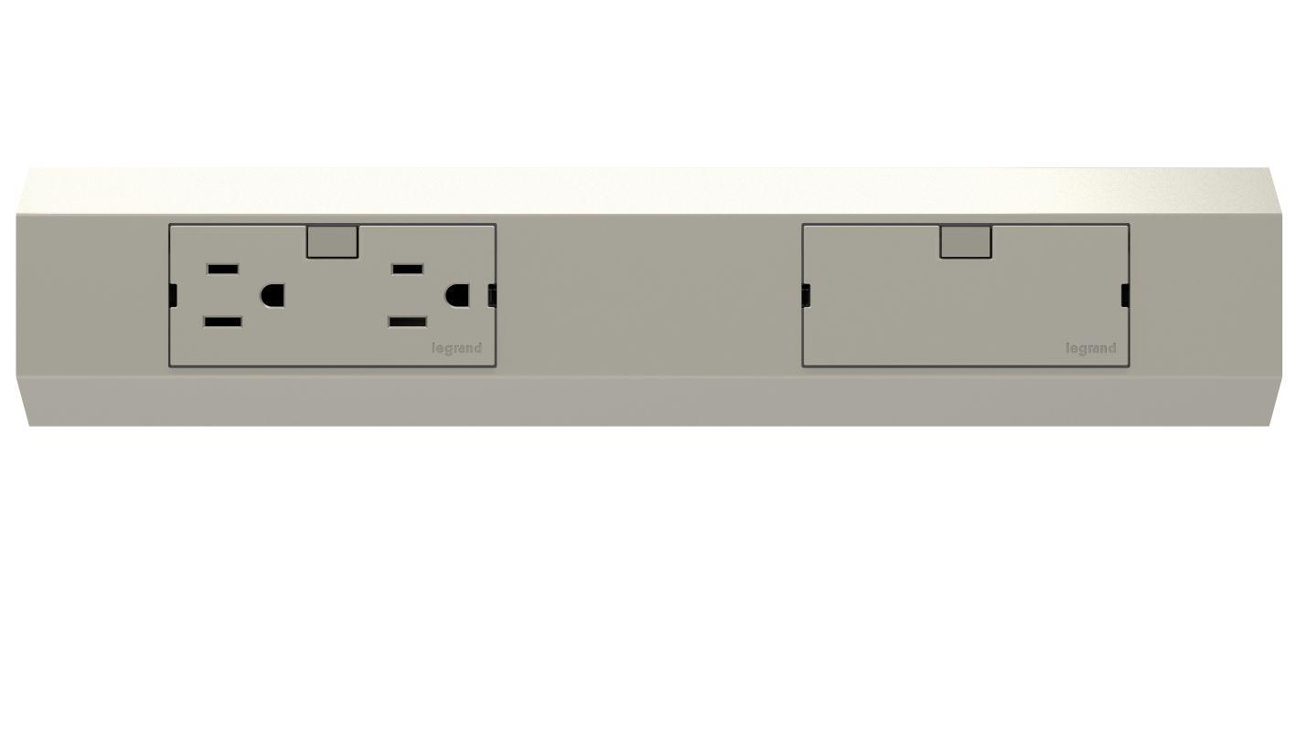 """Legrand APMT12TM2 adorne Under Cabinet 12"""" Modular Track Titanium Sale $58.28 ITEM#: 2669604 MODEL# :APMT12TM2 UPC#: 786776178562 :"""