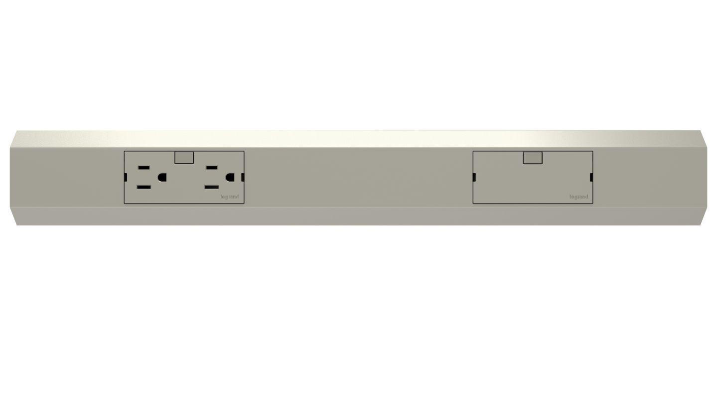 """Legrand APMT18TM4 adorne Under Cabinet 18"""" Modular Track Titanium"""
