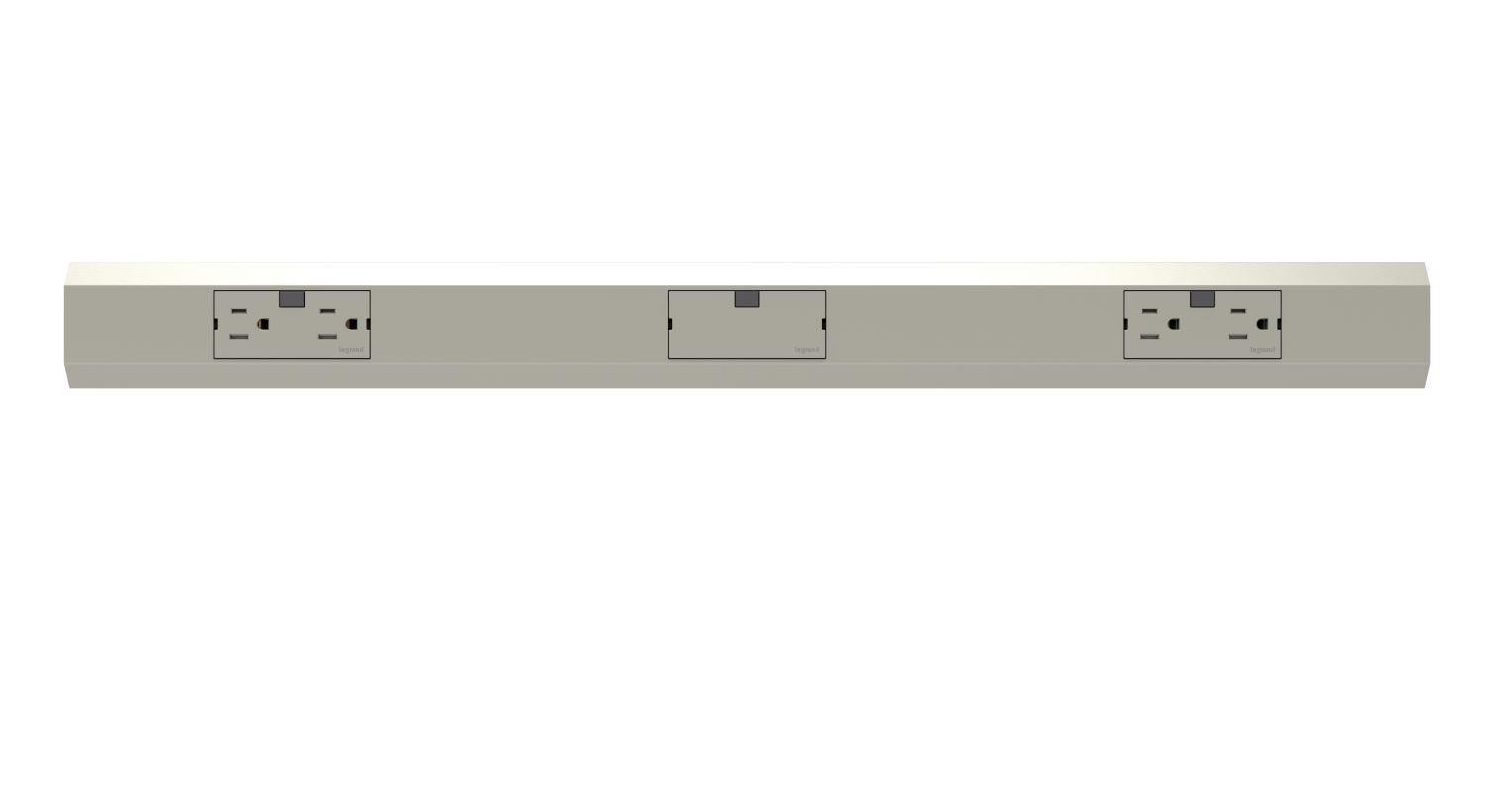 """Legrand APMT27TM2 adorne Under Cabinet 27"""" Modular Track Titanium"""