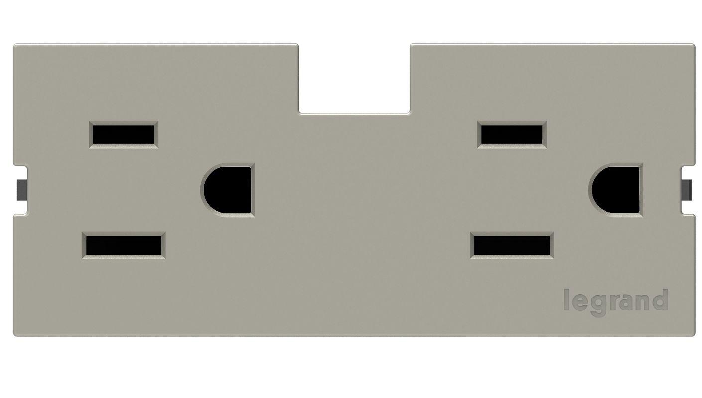 Legrand APTR15TM4 adorne Under Cabinet Outlet Module (15A) Titanium