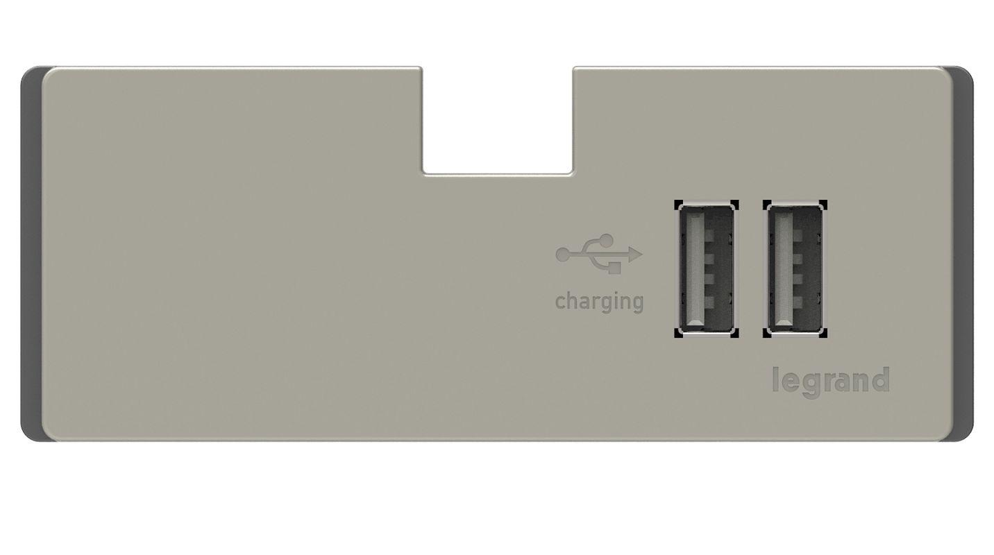 Legrand APUSB3TM4 Adorne Under Cabinet USB Outlet Module Titanium