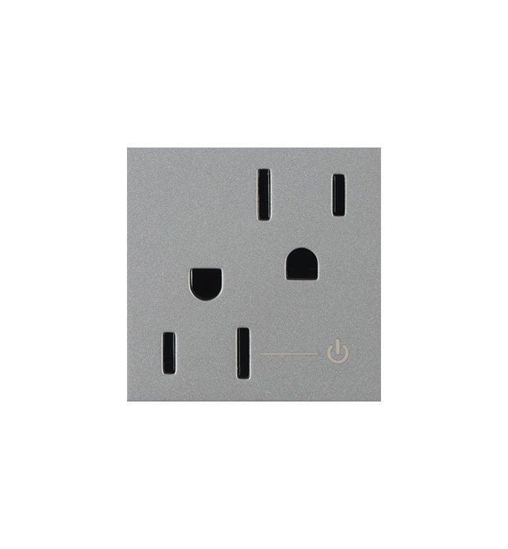 Legrand ARCH152M10 Adorne Half Controlled Outlet Magnesium Indoor