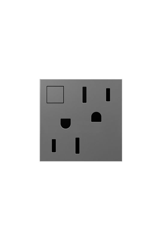 Legrand ARPS15RF2M4 adorne Double 15 Amp Outlet with On/Off Button for