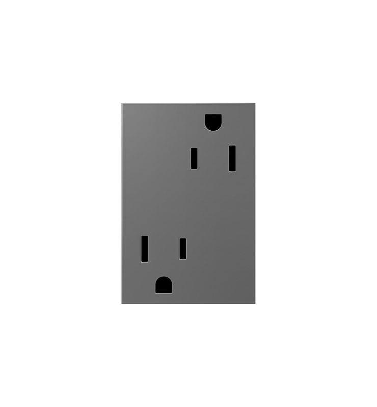 Legrand ARTR153M4 adorne Double 15 Amp Tamper Resistant Outlet 3