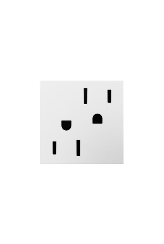 Legrand ARTR202W4 adorne Double 20 Amp Tamper Resistant Outlet White