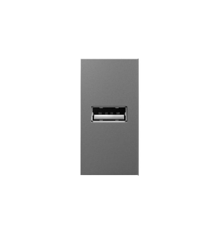 Legrand ARUSBM4 adorne 2.1 Amp USB Outlet 1 Module Magnesium Indoor