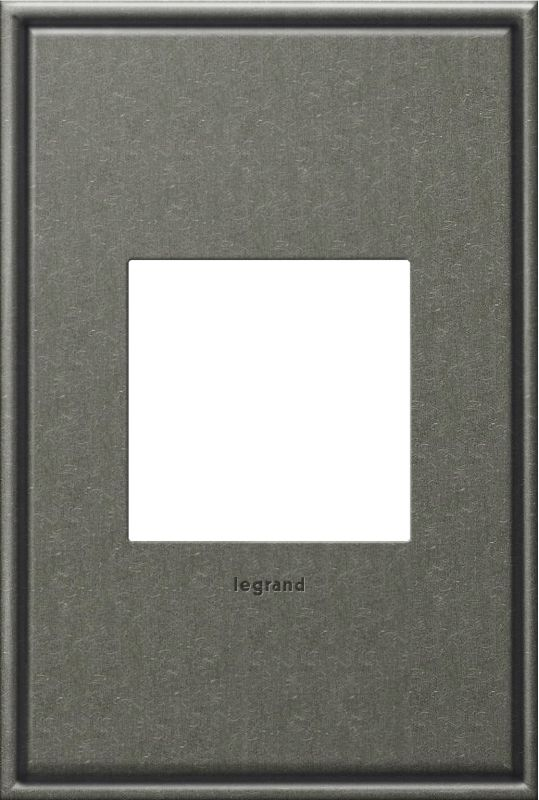 Legrand AWC1G2BP4 adorne 1 Gang Metal Wall Plate - 4.56 Inches Wide