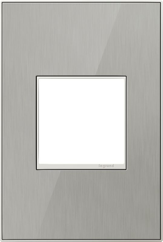Legrand AWC1G2BS4 adorne 1 Gang Metal Wall Plate - 4.56 Inches Wide