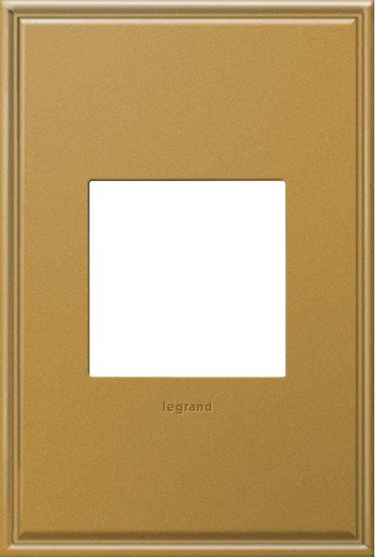 Legrand AWC1G2NB4 adorne 1 Gang Metal Wall Plate - 4.56 Inches Wide