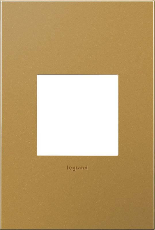 Legrand AWC1G2SB4 adorne 1 Gang Metal Wall Plate - 4.56 Inches Wide