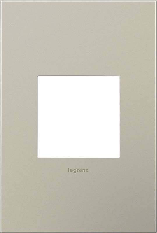 Legrand AWC1G2SN4 adorne 1 Gang Metal Wall Plate - 4.56 Inches Wide