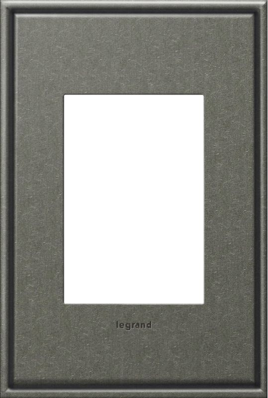 Legrand AWC1G3BP4 adorne 1 Gang Metal Wall Plate - 4.56 Inches Wide