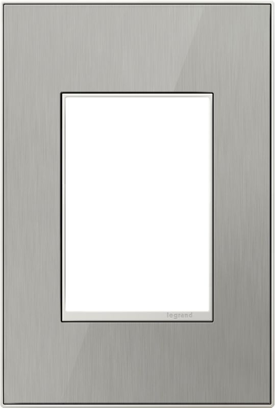 Legrand AWC1G3BS4 adorne 1 Gang Metal Wall Plate - 4.56 Inches Wide