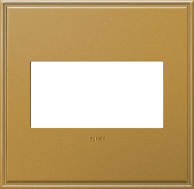 Legrand AWC2GNB4 adorne 2 Gang Metal Wall Plate - 6.56 Inches Wide