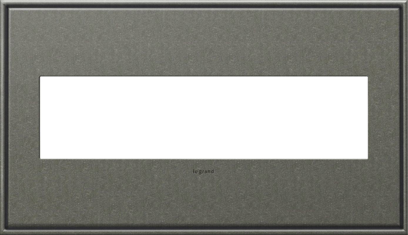 Legrand AWC4GBP4 adorne 4 Gang Metal Wall Plate - 6.56 Inches Wide
