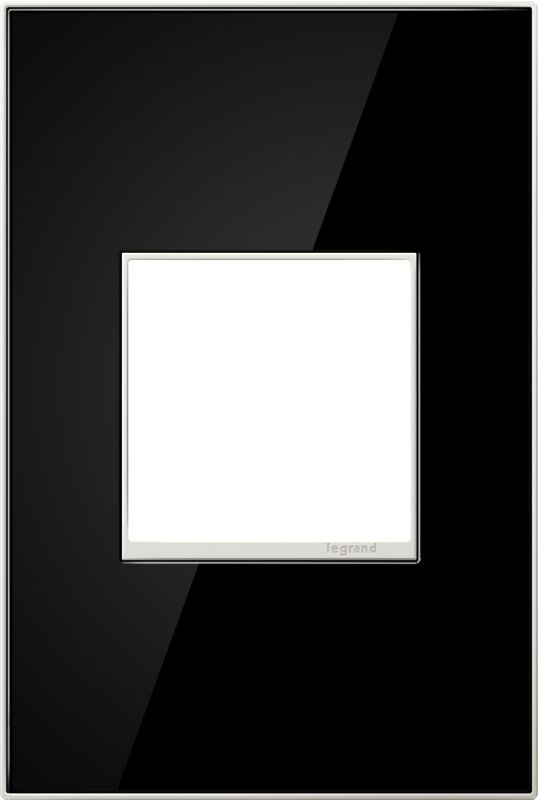 Legrand AWM1G2MB4 adorne 1 Gang Glass Wall Plate - 4.56 Inches Wide