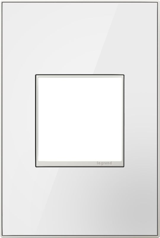 Legrand AWM1G2MW4 adorne 1 Gang Glass Wall Plate - 4.5 Inches Wide