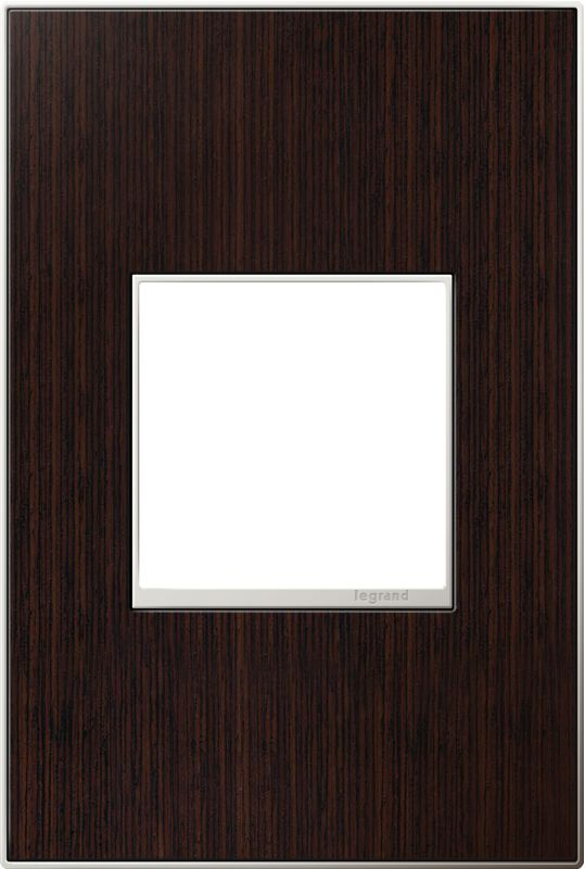 Legrand AWM1G2WE4 adorne 1 Gang Wood Wall Plate - 4.56 Inches Wide